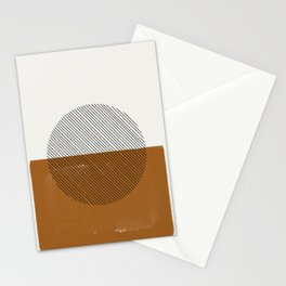 Retro Lines Sun Stationery Cards