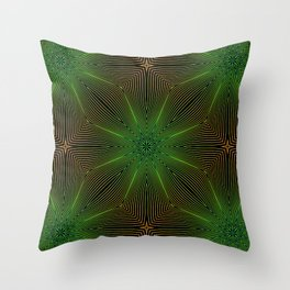 Abstract pattern of lines on black background. Geometric forms. Modern Art. Throw Pillow