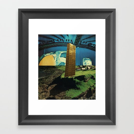 gold coast Framed Art Print