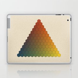 Lichtenberg-Mayer Colour Triangle vintage variation, Remake of Mayers original idea of 12 chambers Laptop & iPad Skin