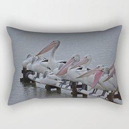 Pelicans of Meningie Rectangular Pillow