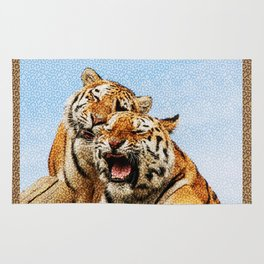 TIGERS - DOUBLE TROUBLE Rug