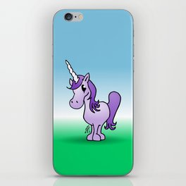 Purple Unicorn iPhone Skin