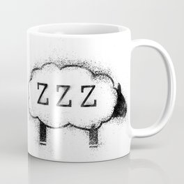 ZZZ Sheep - Distressed Coffee Mug
