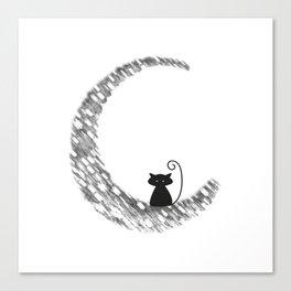Mooncat Canvas Print