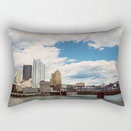 Hearts Over Pittsburgh Rectangular Pillow