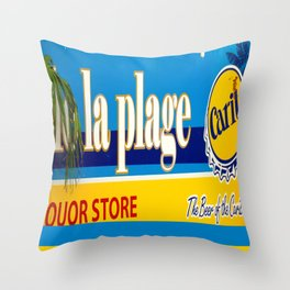 La Plage Carribbean Throw Pillow