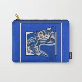 blue boy runnin' (sq wide frame) Carry-All Pouch