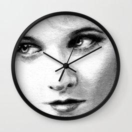 Gaze On Wall Clock