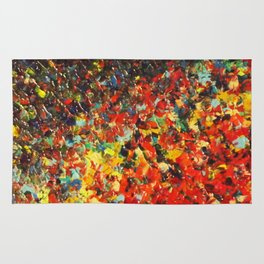END OF THE RAINBOW - Bold Multicolor Abstract Colorful Nature Inspired Sunrise Sunset Ocean Theme Rug