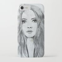 karen hallion iPhone & iPod Cases featuring Karen by Just Art by Lena Wennerström