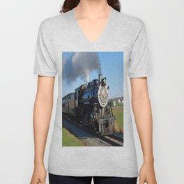 Steam Locomotive Unisex V-Neck