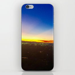City Lights and Sunset iPhone Skin