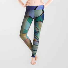 Middle Eastern Belly Dance With Pastel Veils Leggings