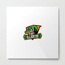 Alligator Sport Mascot Logo Design Metal Print