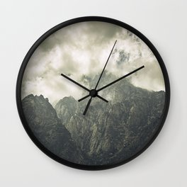 Over the mountains Wall Clock