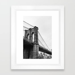 Brooklyn Bridge II Framed Art Print