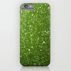 Beautiful Greenery Pantone glitter sparkles Slim Case iPhone 6s
