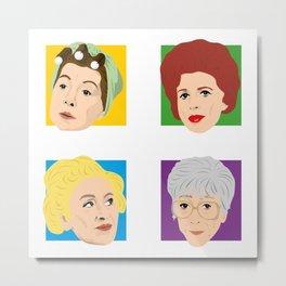 Coronation Street - Hilda, Elsie, Annie and Blanche Metal Print