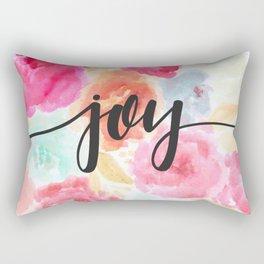 Watercolor Floral Joy Rectangular Pillow