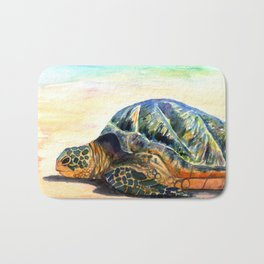 Turtle at Poipu Beach 8 Bath Mat