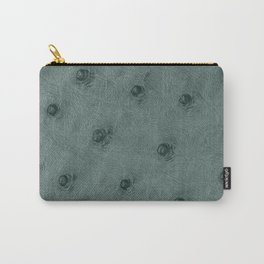 Ostrich leather effect (grey) Carry-All Pouch