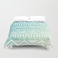 tribal Duvet Covers featuring Tribal  by Julia