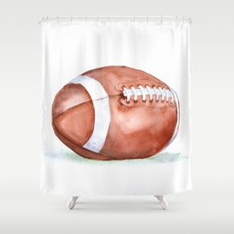 Football Watercolor Shower Curtain