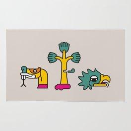 Aztec Glyphs ~3 Rug