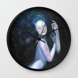 Waterlily Girl Wall Clock