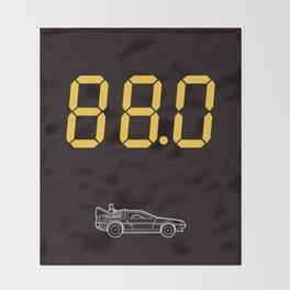 DeLorean Throw Blanket