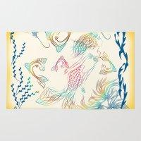 mermaid Area & Throw Rugs featuring Mermaid by famenxt