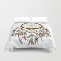 dream catcher Duvet Covers featuring Dream Catcher by Sarah Jane Bradley