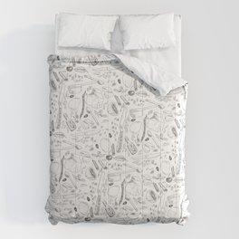 Baking Supplies Toile Comforters