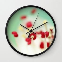 Candy Blossom Red Wall Clock
