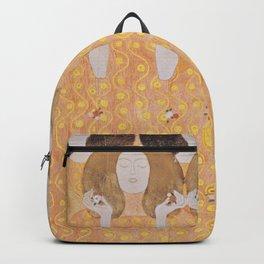 Gustav Klimt - Choir of Angels (Chor Der Paradiesengel) Backpack