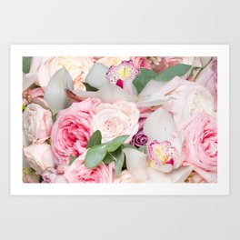 In a Giant's Flower Garden Art Print