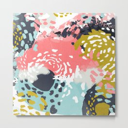Athena - abstract painting hipster home decor trendy color palette art gifts Metal Print
