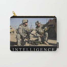 Intelligence: Inspirational Quote and Motivational Poster Carry-All Pouch