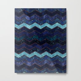 Glitter Waves II Metal Print