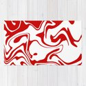 Holiday Red Liquid Marble Effect Pattern by oursunnycdays