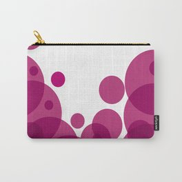 PURPLE CIRCLES Abstract Art Carry-All Pouch