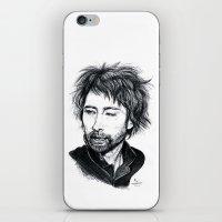 radiohead iPhone & iPod Skins featuring Thom Yorke [Radiohead] by ieIndigoEast