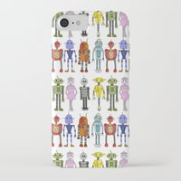 robots iPhone & iPod Cases featuring Robots by Annabelle Scott