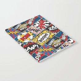 Modern Comic Book Superhero Pattern Color Colour Cartoon Lichtenstein Pop Art Notebook