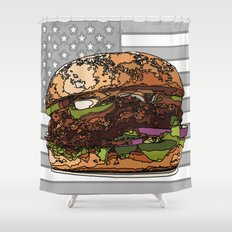 USburger Shower Curtain