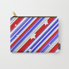 Usa Stars Design Colorful Abstract Motif  Carry-All Pouch