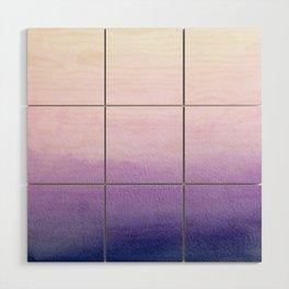 Purple Watercolor Design Wood Wall Art