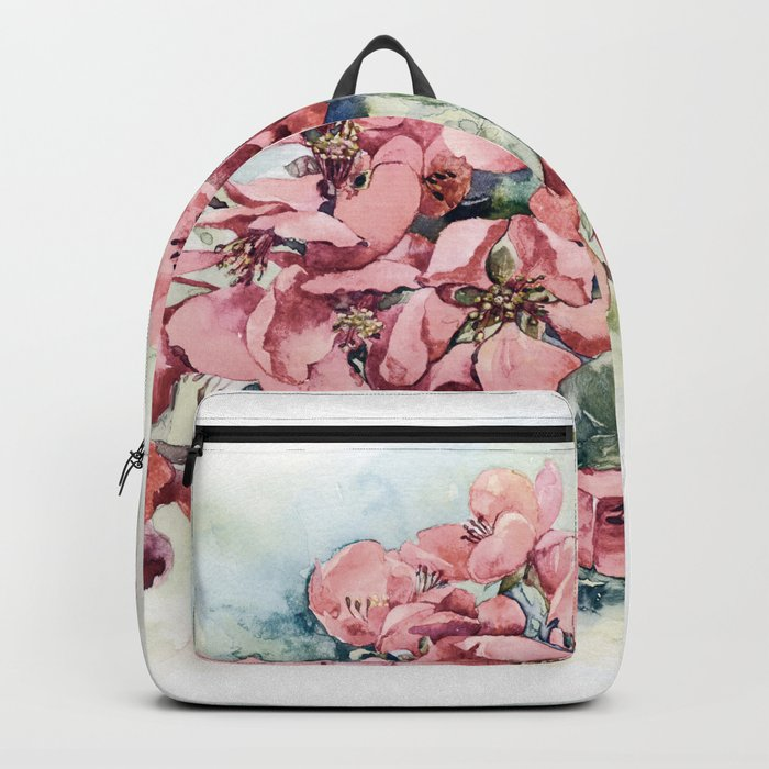 Flowering Japanese quince Backpack