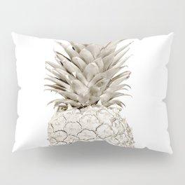 Minimalist White Gold Painted Pineapple Pillow Sham